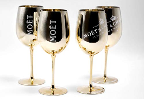 Moet Chandon GLÄSER Gold Ice Imperial Champagner Limited Ibiza Edition (Gold) 4 Stück (4pcs.)