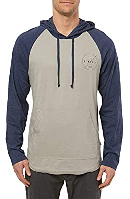O'NEILL Men's Lightweight Classic Pullover Sweatshirt Hoodie (Heather Pewter/Fields, M) from O'Neill