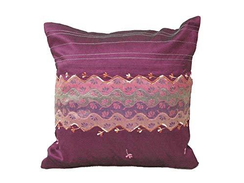 0 www.working-house.com (Textil / Cojines) FUNDA DE COJIN CAMA SOFA CUADRADA PEQUEÑA VIOLETA