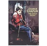 チャーリーチャップリンゴールドラッシュポスター装飾画キャンバスウォールアートリビングルームポスター寝室の絵画-50x75cmフレームなし