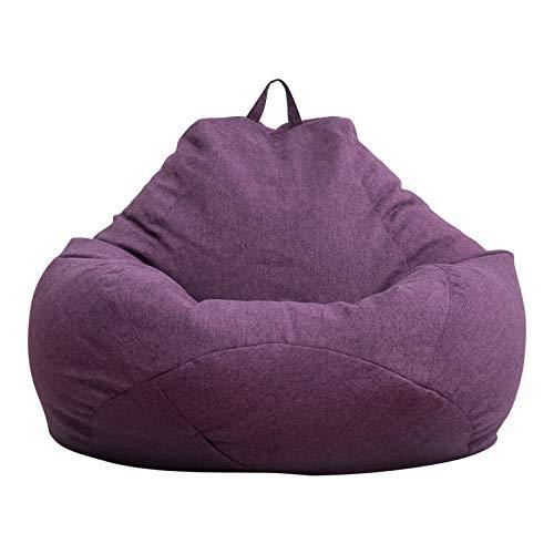 Ryoizen Puff Funda de Bean Bag(Sin Relleno) Funda para Sillón Puff Cubierta para Sofá Perezoso Fundas Clásicas de Puff Pera Bolsa de Frijol para Silla Tumbona Perezosa para Adultos y Niños