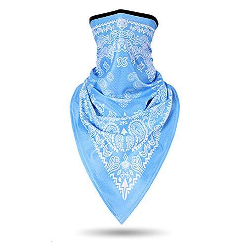 Fashion sjaal, masker hip-hop mode, de natuur, paardrijden, sling, neutraal, ijs zijde,Sky blue