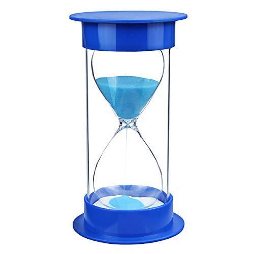 Toirxarn Reloj de arena, doble protección, asistente de gestión del tiempo, regalo creativo, decoración de la oficina de la sala de estar - 10 minutos Azul