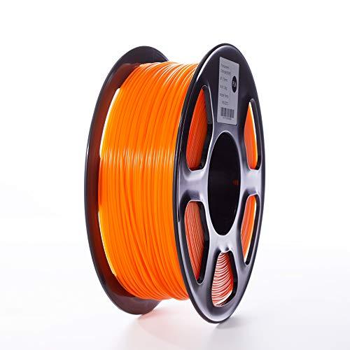 TOPZEAL Filamento stampante 3D, filamento PLA di colore trasparente serie 1,75 mm, precisione dimensionale +/- 0,02mm, bobina 1KG per stampante 3D e penna 3D (Transparent-Orange)
