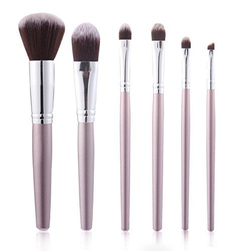 HKHJN 6 stücke Luckyfine Weiche Make-Up Pinsel Set Foundation Mischung Lippen Liner Lidschatten...