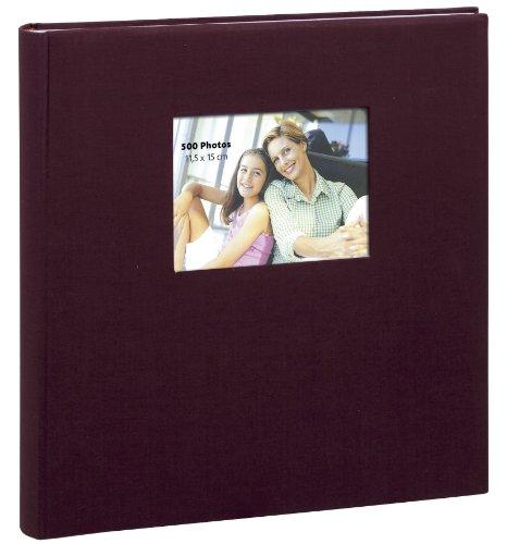 Erica - Album Photo Erica Prestige Square Bordeaux 500 Photos, à Pochette 11,5X15