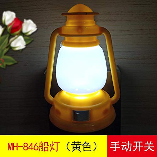 Nachtlamp Oogbescherming Zacht Licht Slaap Slaapkamer Nachtkastlamp 846 Bootverlichting Lichtgeel