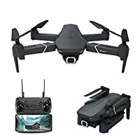 Drone with 4K Camera Live Video,EACHINE E520 WiFi FPV Drone for Adults with 4K HD Wide Angle Camera 1200Mah Long Flight time High Hold Mode Foldable RC Drone Quadcopter by EACHINE