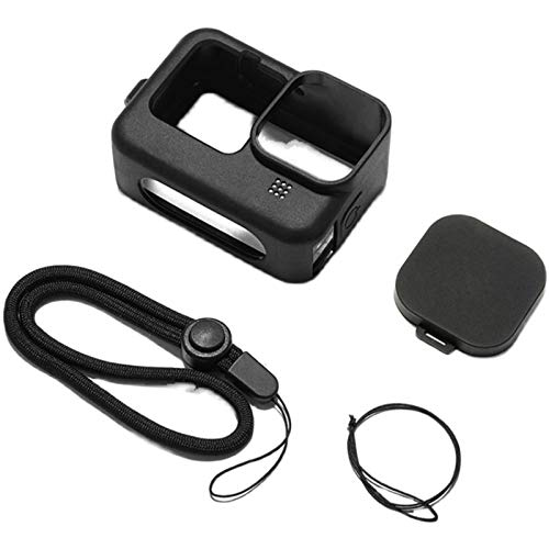 WESYY Suitable for Silicone Sleeve Cases for Gopro Hero 9, Action Camera Protective Covers,Protective Cover with Lens Cap andAnti-Lost Protection Rope (Black)