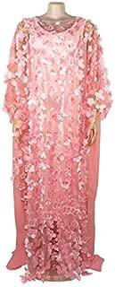 Pink Summer Women's Dress, Flower Women's Dress, Three-Dimensional Embroidered Plus Size Maxi Skirt, Elastic Vest Maxi Skirt