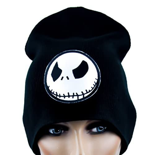 014eb7bb625 Evil Grin Jack Skellington Beanie Knit Cap Goth Clothing Nightmare Before  Christmas