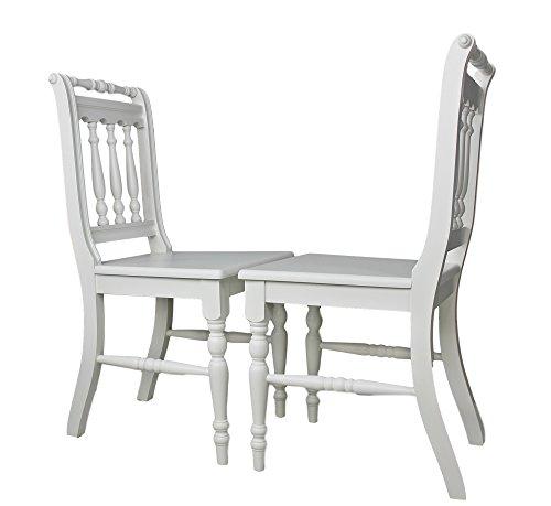 elbmöbel Stuhl Holzstuhl Küchenstuhl massiv weiß braun Vollholz Holz Landhaus Cottage (OTTO Weiß Set)