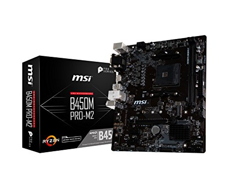 MSI B450M Pro-M2 - Placa Base (AM4, AMD B450, 1 x PCI-E 3.0 x16, DDR4 3466+ MHz, HMDI, 4 x SATA 6Gb/s) [Modelo Antiguo]
