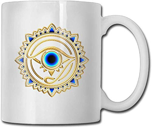 11 oz Coffee Mug, Tea Mug, Egyptian Ibis Ankh Horus Eye Coffee Mugs Office Gift Ceramic Tea Cup,Perfect Gift for Family and Friend