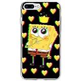 SCLWZD iPhone 7 Plus/iPhone 8 Plus Case- Stylish King Spongebob PC Slim Shockproof Flexible Back Protective Case for iPhone 7 Plus/iPhone 8 Plus