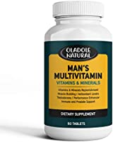 Men's Daily Multimineral Multivitamin Supplement. Testosterone Booster Vitamins A C E D B1 B2 B3 B5 B6 B12. Biotin,...