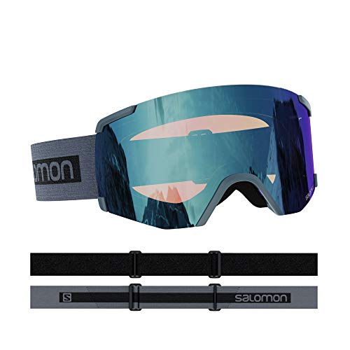 Salomon, S/VIEW PHOTO, Unisex-Skibrille, Medium-Small Fit, Grau/AW Blue, L41153300