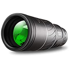 16X52 HIGH POWER MAGNIFICATION.A full 16x magnification and 52mm object lens diameter monocular, provides a clearly and bright image, enjoy the beauty of the distance. Feeke monocular telescope has large field of view , have the best view in your out...