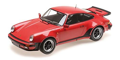 MINICHAMPS-Porsche-911 Turbo-1977 Voiture Miniature de Collection, 125066115, Rouge Strawberry