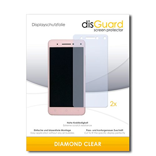 disGuard 2 x Bildschirmschutzfolie Lenovo Vibe S1 Schutzfolie Folie DiamondClear unsichtbar