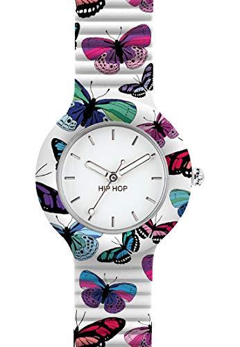 Hip Hop Watches - Orologio da Donna Hip Hop Butterfly HWU0675 - Collezione Animals Addicted - Cinturino in Silicone - Cassa 32mm - Impermeabile
