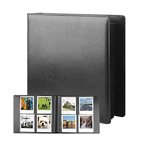 192 Pockets Photo Album for Fujifilm Instax Wide 300 Camera, Polaroid 600 i-Type Film Album, Extra Large Picture Albums for Polaroid Now OneStep2 OneStep+ Instant Camera, POP Lab Print Camera (Black)