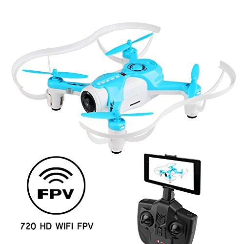 WINGLESCOUT RC Quadcopter Drone con Fotocamera 720P WiFi...
