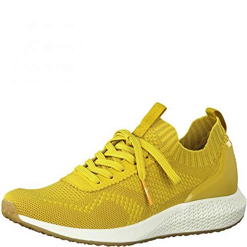Tamaris Zapatillas deportivas para mujer, color Amarillo, talla 42 EU