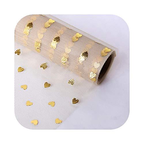 Happy-Boutique - Papel de seda origami, papel de 1 m, lentejuelas doradas con forma de corazón, ramo de embalaje, fiesta, boda, caja de regalo, manualidades, álbumes de recortes, etc.