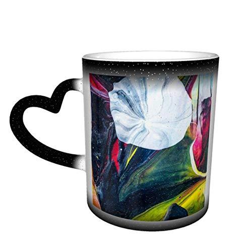 N\A Taza Que Cambia de Color Minimalista Moderna en el Cielo Taza de cerámica Taza de café Regalo de cumpleaños de Navidad