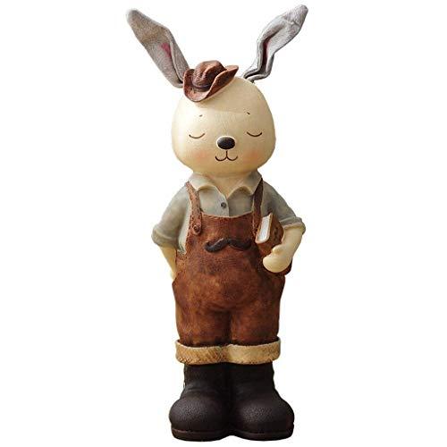 XHAEJ Hucha de conejo/Hucha de conejo, regalo de cumpleaños, sala de estar, gabinete de vino, decoración del hogar, adornos de muñeca contando dinero frasco grande (color: B)