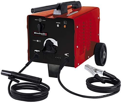 Einhell Elektro-Schweißgerät TC-EW 160 D (stufenlos regelbarer Schweißstrom 55-160 A, Netzanschlusskabel für 230V/400 V, Thermowächter, Ventilatorkühlung, Masseklemme, Elektrodenhalter)