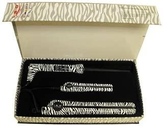 ISO Professional Hair Irons Set of 3 Zebra Print: Flat Iron, Mini Travel Flat Iron, & Twister / Curling Iron Ceramic & Tourmaline Frizz 430 Degree Control