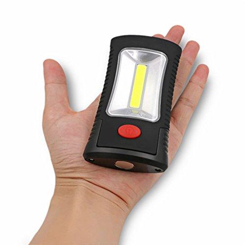GRH Sanyi 2-Modes LED Magnetic Working Folding Hook Light Lamp Torch Linternas lampe de poche éclairage pratique utilisation 3x AAA