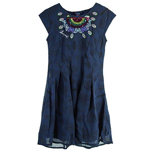 Desigual VEST_VICTORIA Kinder Kleid 11/12 NAVY