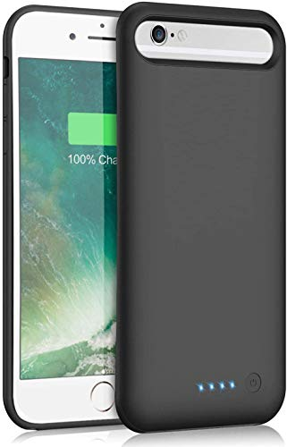 Kioson Battery Case for iPhone 6/6s/7/8, [Upgraded 6000mAh] Portable Ultra-Slim Protective Portable Charging Case, Extended Rechargeable Smart Battery Pack, Backup Charger Case(4.7inch)