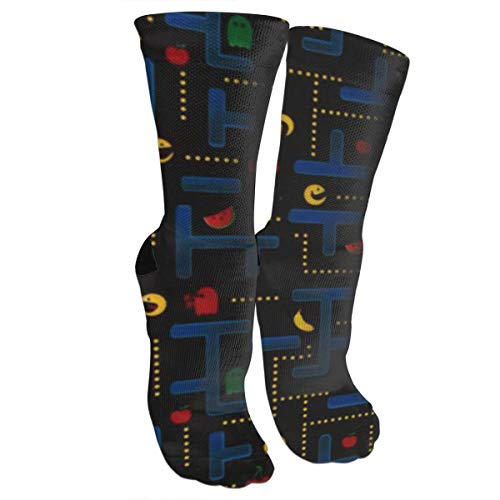 antcreptson Video Game Black Athletic Socks Men Women Running Sports Non-Slip Socks