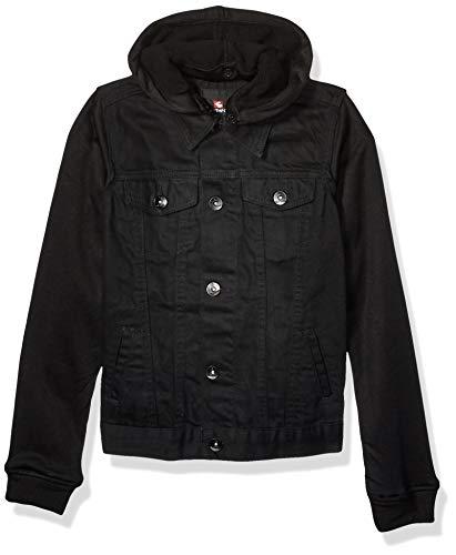 Southpole - Kids Boys' Big Fashion Denim Jacket, Jet Black, Medium