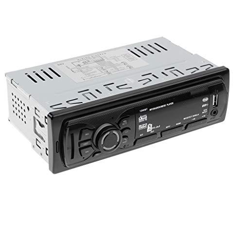 Baoblaze Reproductor de Audio Estéreo de Coche Reproductor MP3, Llamadas Manos Libres, Función de Radio y Archivo