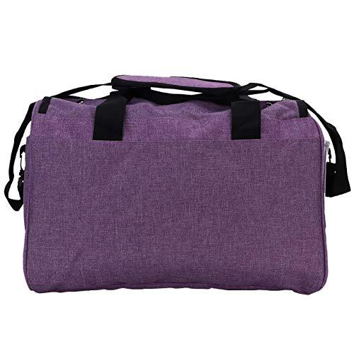 Bolsa de almacenamiento de ganchillo de gran capacidad azul/púrpura para tejer agujas de tejer herramientas de costura suministros para el hogar para ganchillo (bolsa de lujo púrpura)