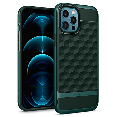 Caseology Parallax Compatible with iPhone 12 Pro Max Case (2020) - Midnight Green