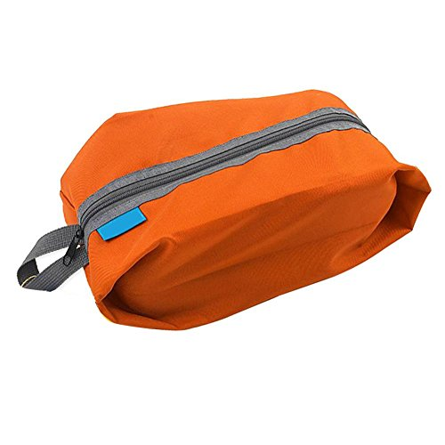 Schuhtasche Schuhbeutel Aufbewahrungstasche Organizer Trgbar Wasserdicht Reise Outdoor Camping (Orange)
