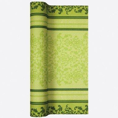Home fashion 0200–1011Tischläufer TL Barock Lace 490x 40cm, grün