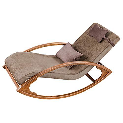 XLSQW Silla de Mecedora Interior, Relajarse Mecedora Silla reclinable Silla de salón Espesado...