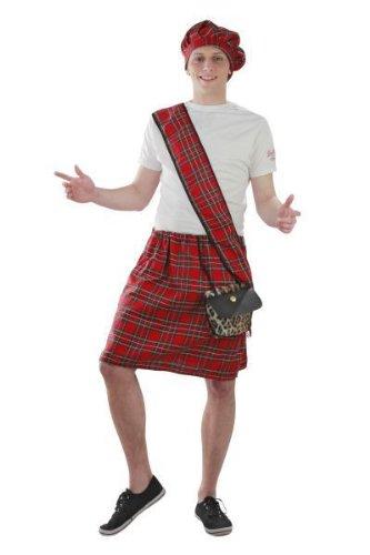 Foxxeo Kostüm Schotte Schottenrock Schottland Karneval Kostüme Größe M-L