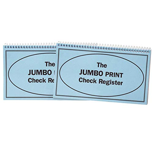 Giant Print Check Register, Set of 2