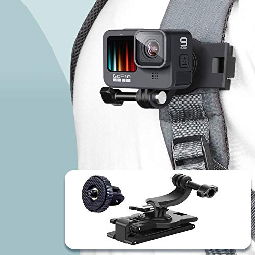 VKESEN 360 Grad Rotations-Rucksack Halterung Clip Halter Halterungrucksack Kompatibel mit GoPro Hero 9, 8, 7, Insta360, DJI Osmo Action und Anderen Action-Kameras