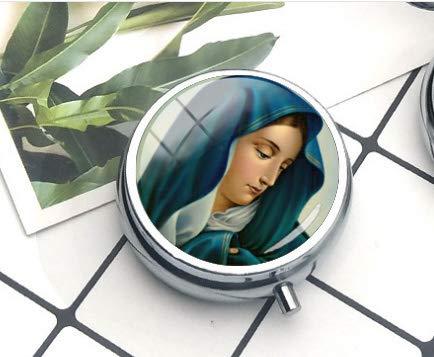 Collar con colgante de la Virgen de los Dolores de María, 2 pastilleros