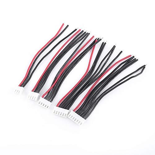 KUIDAMOS Resiste el Conector de Equilibrio de Enchufe de Equilibrio de Alta Temperatura Rojo 10 Piezas para ensamblar batería de Litio para el Modelo Imax B6 Prueba de enchufes de Cargador para