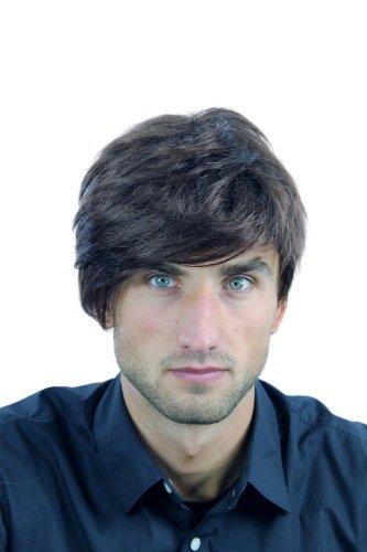 WIG ME UP - Perruque homme mélange rouge-brun brun cheveux épaix raie WL-2362-4/33